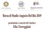 """Borsa di Studio """"Augusto Del Rio"""" 2019"""