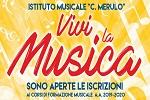 Al via le iscrizioni ai corsi musicali dell'Istituto Merulo